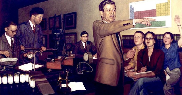 Triple Portrait of Donald F. Othmer by Stephen Cornelius Roberts