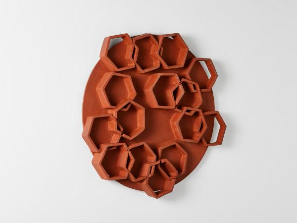 Interlacing Hexagons on a Circle (Wall Mount) by Ben Medansky