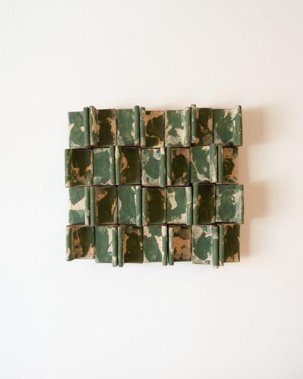 Earth Tone Fin Wall Work by Ben Medansky