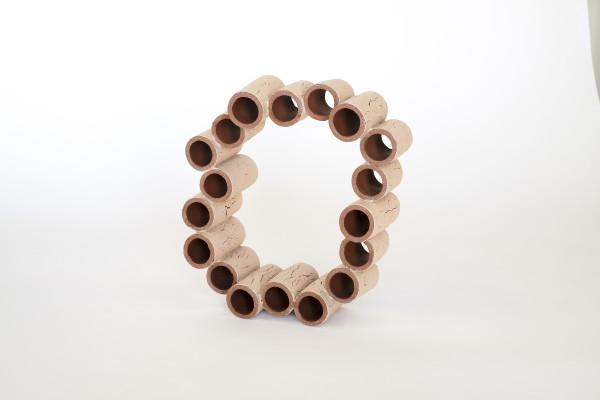 Terra Cotta Tubes with Cracked Slip by Ben Medansky