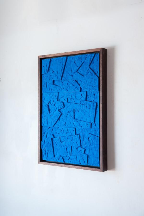 Tangled Rectangles in Blue by Ben Medansky