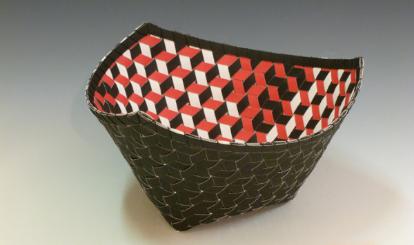 """3rd Place – Dorothy McGuinness - """"Triality 3"""" - www.dorothymcguinnesbasket.com by Dorothy  McGuinness"""