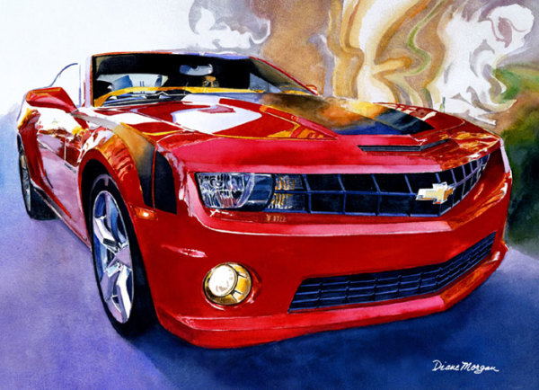 """5th Place – Overall - Diane Morgan - """"Hot as a Heartbeat"""" – www.dianemorganpaints.com by Diane Morgan"""