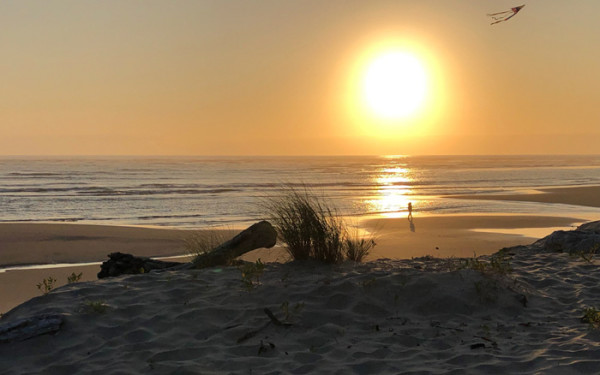 """8th Place – Overall - Larry Klink - """"Sunset over Beach"""" – www.earthwatcher.us by Larry Klink"""