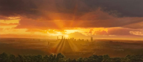 "2nd  Place – Lars Vester - ""Mount Coot - Tha Morning (Brisbane, Queensland Australia)"" – www.larsvesterart.com by Lars Vester"