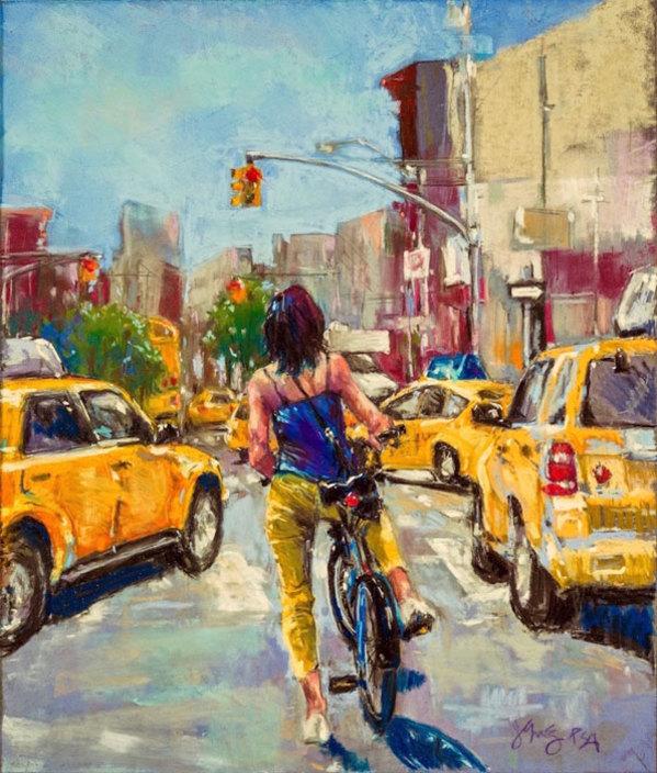 "4th  Place – Jeri Greenberg - ""Red Light, Stop"" – www.jerigreenbergart.com by Jeri Greenberg"