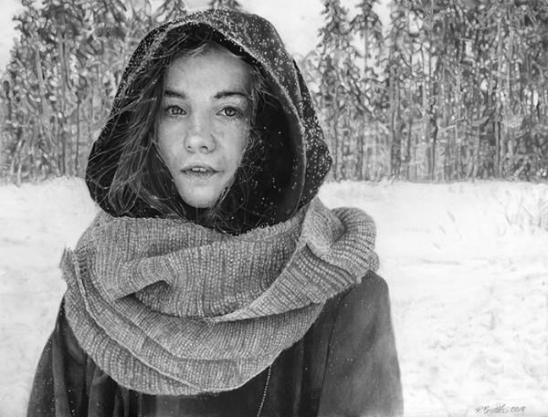 """Renee Brettler – """"Snowy Solitude"""" - www.reneebrettler.com by Renee Brettler"""