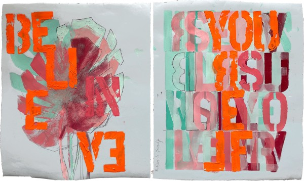 Typography Diptychs by Tina Psoinos
