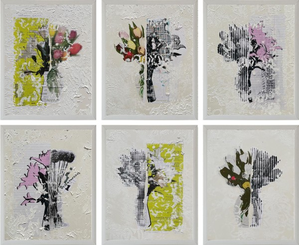 Floral Bouquet series of 6 by Tina Psoinos