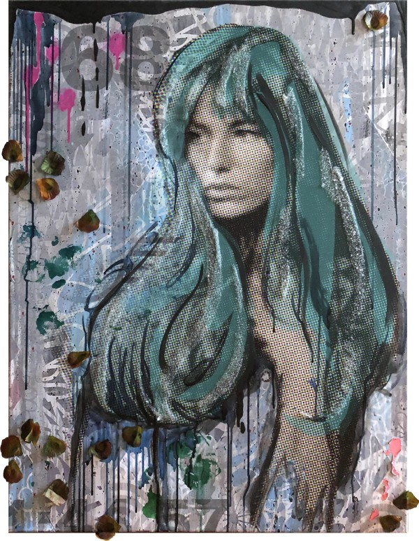 Jane B Teal Pink by Tina Psoinos