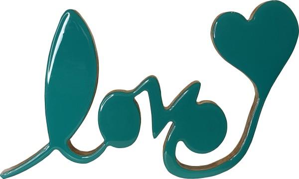 Love Sculpture Medium Green by Tina Psoinos