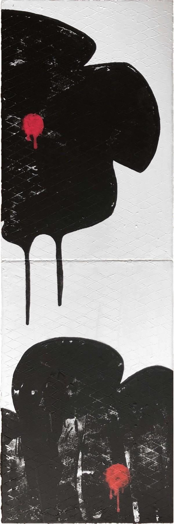 Urban Flora Black on White R by Tina Psoinos
