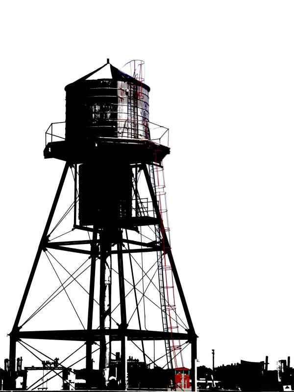 Water Tower 1/2 by Tina Psoinos