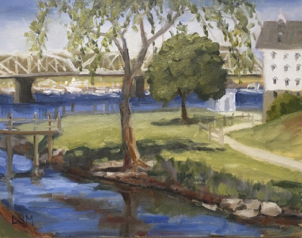Backyard at the Goodspeed Opera House, E. Haddam, CT by Linda S. Marino