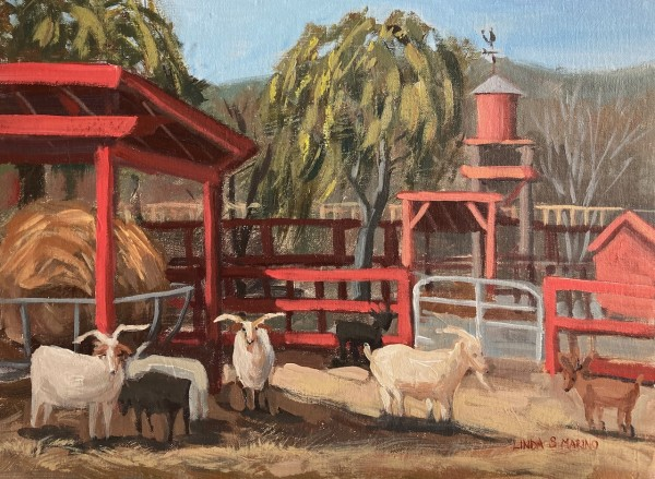 Billy Goats at Silverman's Farm, Easton, CT by Linda S. Marino