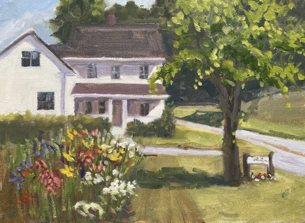 Front Porch at Bauer Farm, Madison, CT by Linda S. Marino