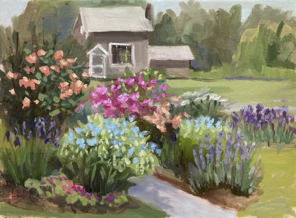 Garden Path to the Studio, Florence Griswold Museum, Old Lyme, CT by Linda S. Marino