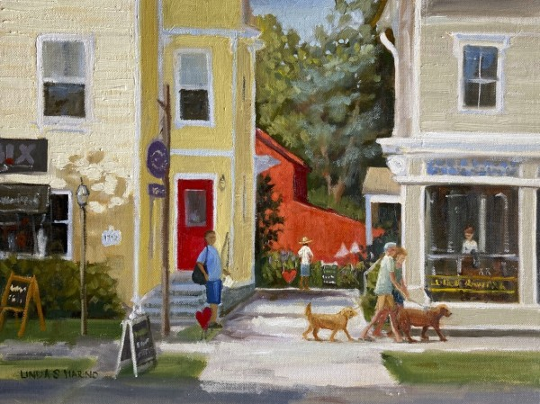 Golden Stroll,  Guilford, CT by Linda S. Marino