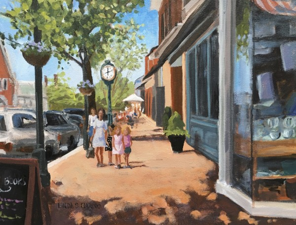 Lunchtime Downtown New Canaan, CT by Linda S. Marino