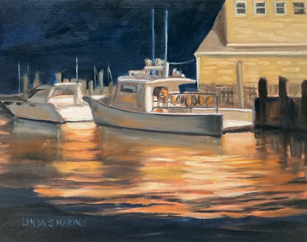 Quiet Night at Guilford Harbor, Guilford, CT by Linda S. Marino
