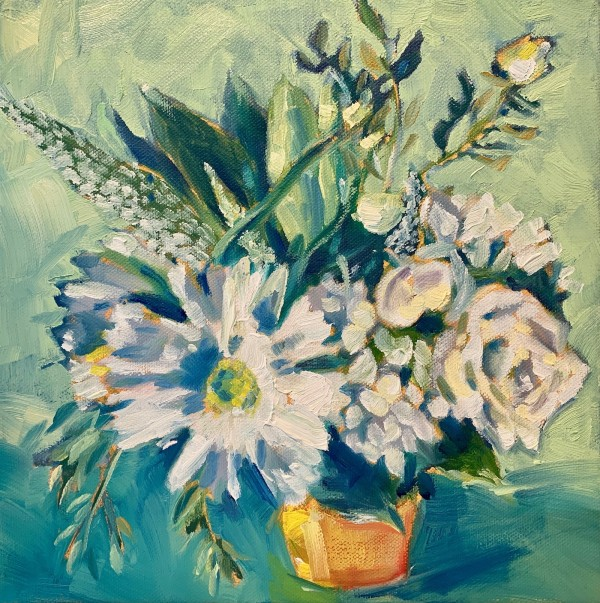 Sara's white bouquet by Marcia Hoeck