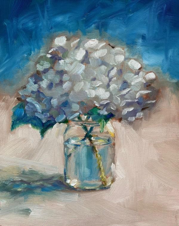 A little bit blue by Marcia Hoeck