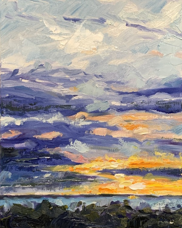 Kathleen's sunset 2 by Marcia Hoeck