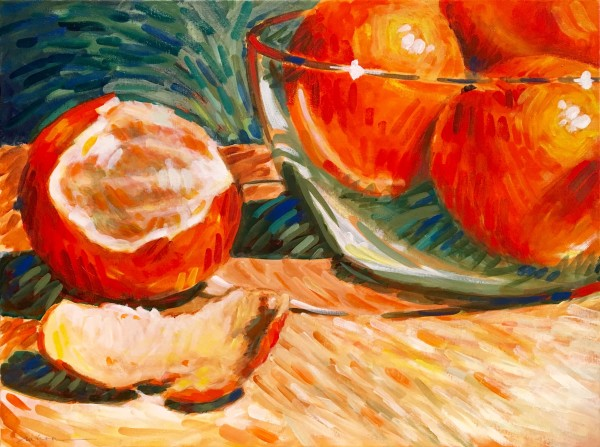 Oranges four by Marcia Hoeck