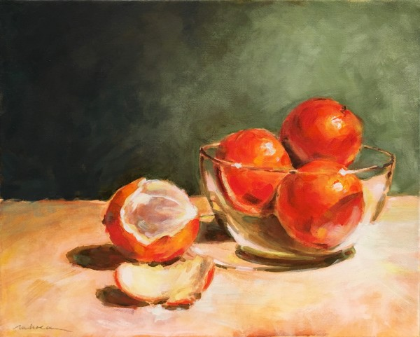Oranges two by Marcia Hoeck