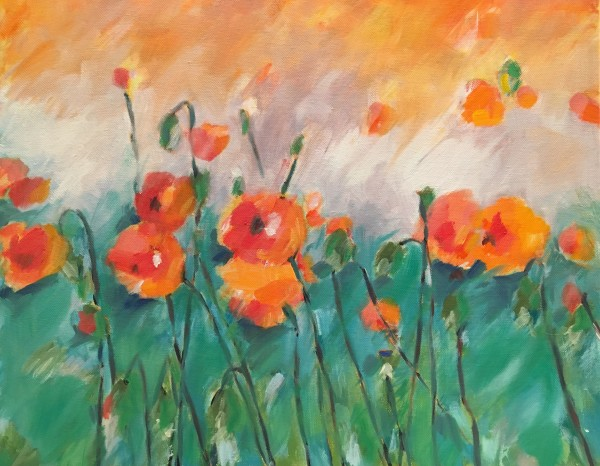 Pretty, pretty little poppy by Marcia Hoeck