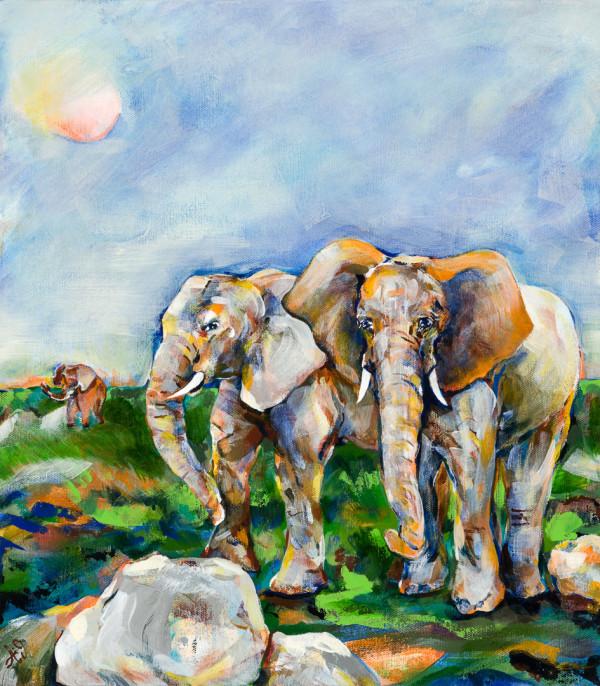 Elephants --2019 by Anna Iris Graham