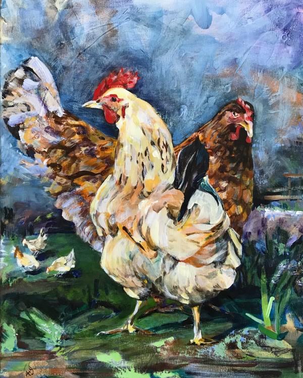 Chicken Yard by Anna Iris Graham