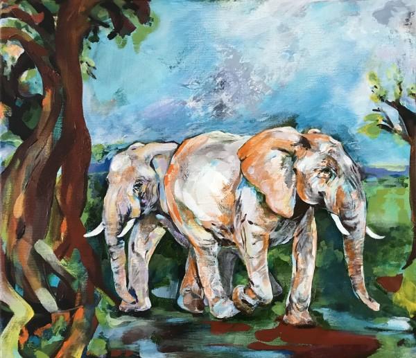 Two Elephants by Anna Iris Graham