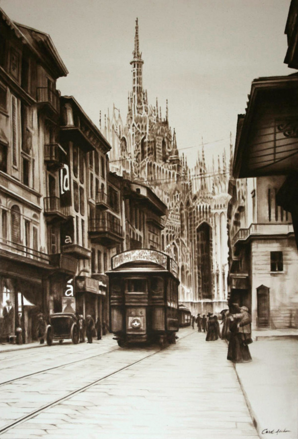 Corso Vittorio Emanuel 1930s by Carol L. Acedo