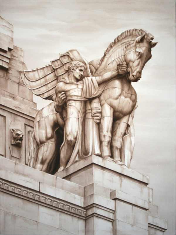 Pegasus from the Gran Stazioni, Milan Italy by Carol L. Acedo