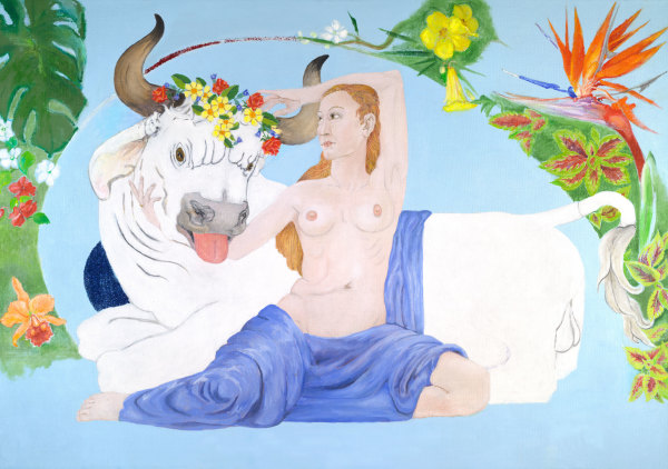 Europa and the Bull (Zeus) by Debi Slowey-Raguso