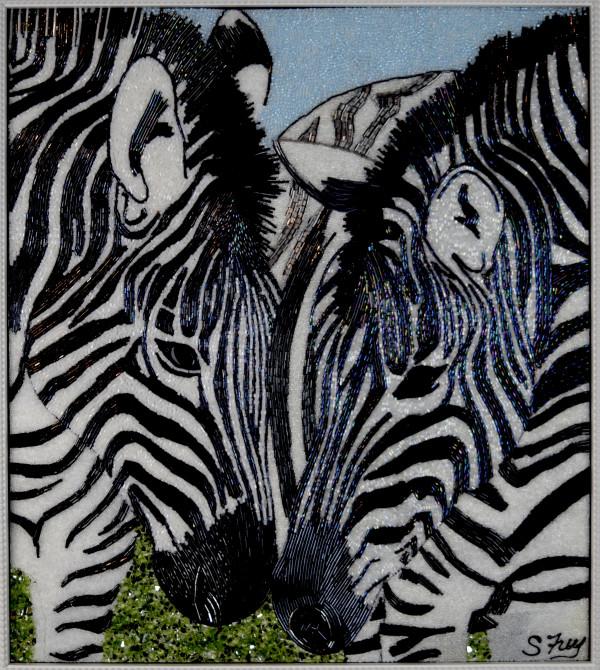 Bogie & Bacall - Zebras by Sabrina Frey