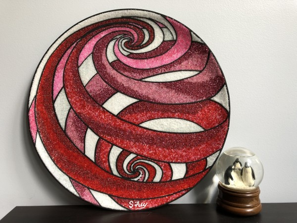 Swirl Globe Red by Sabrina Frey