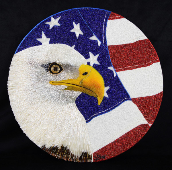 Patriotic Eagle by Sabrina Frey
