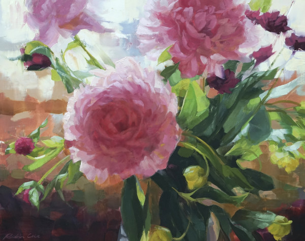 Backlit Peonies by Robin Cole