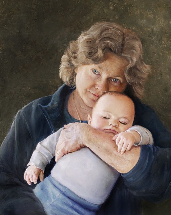Grandmother and Child by Cynthia Feustel