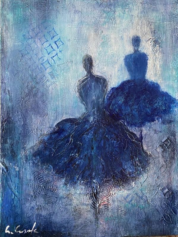 Fusión en azúl by ALEJANDRINA CALDERONI