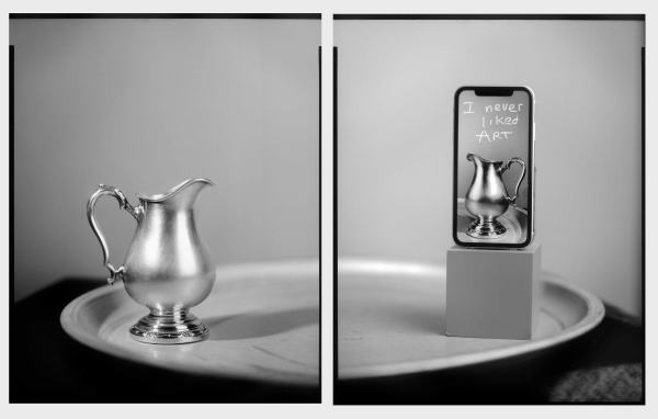 I Never Liked Art (diptych) by Brooke Burton