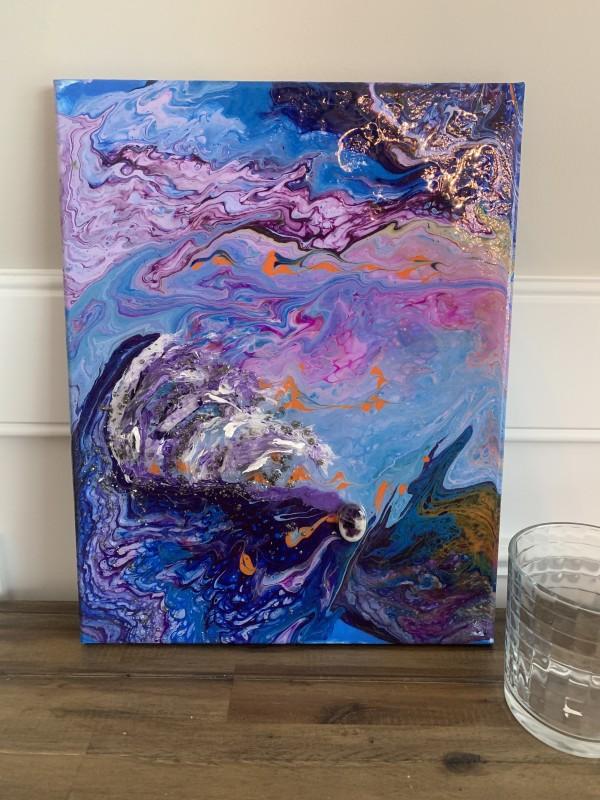 Purple Waves by Rebecca Viola Richards