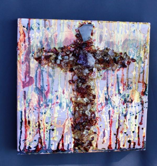 Purple Cross by Rebecca Viola Richards