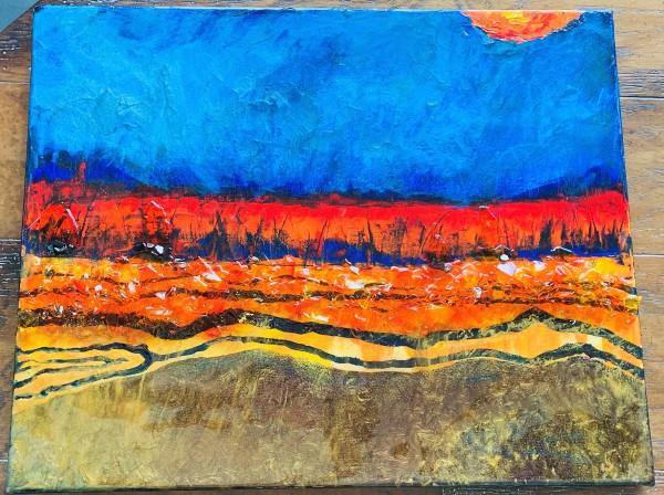 Waves of Orange by Rebecca Viola Richards