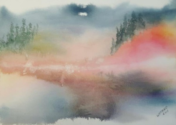 Misty Lake by Wanda Fraser