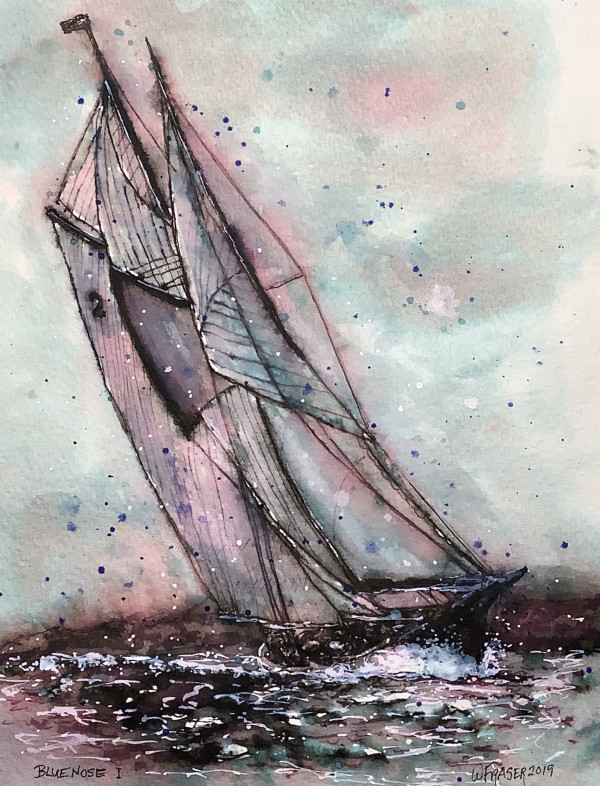 One With the Wind - Bluenose Schooner, NS Canada - SOLD by Wanda Fraser