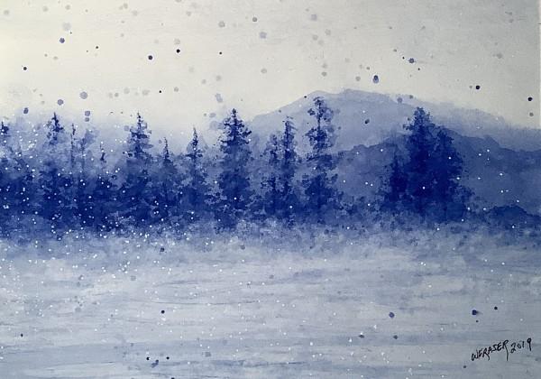 Wintery Forest by Wanda Fraser