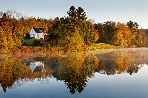 Reflections on Silver Lake by Kent Burkhardsmeier